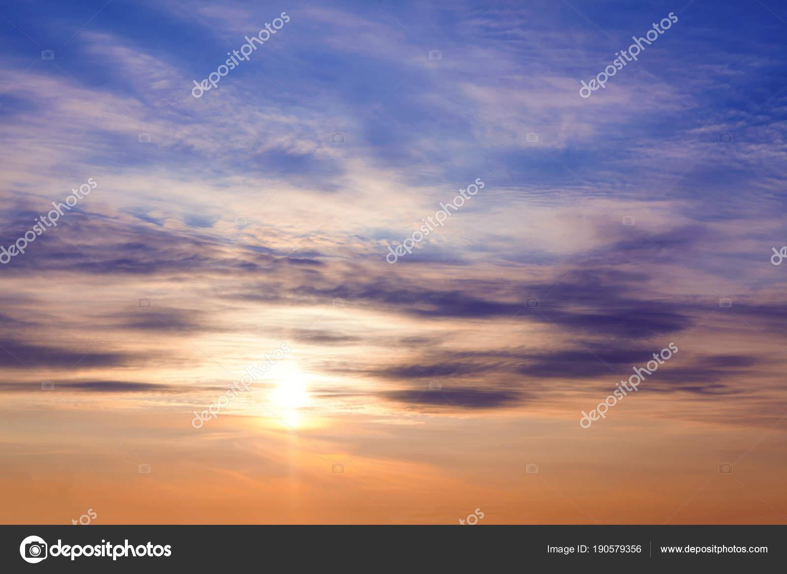 beautiful morning scenery sunrise sky — stock photo © russieseo