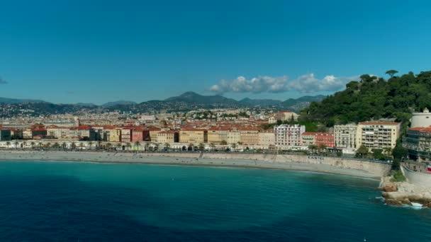 Letecký pohled na promenádě Nice Francie a Středozemní moře