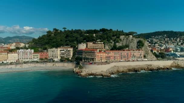 Letecký pohled na Nice Francie nákladů a Středozemní moře