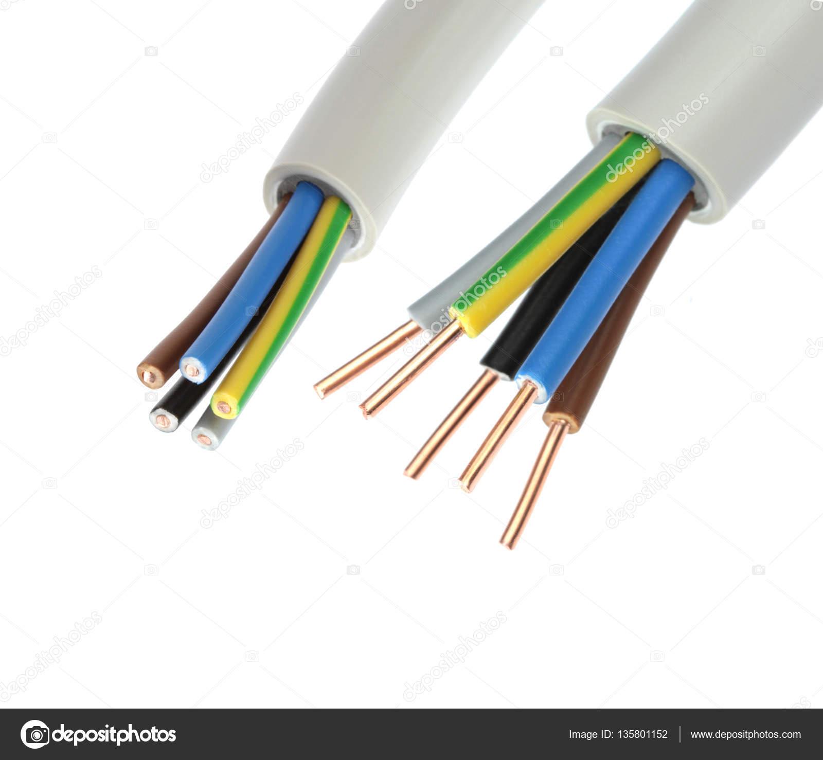 elektrische kabel auf weißem hintergrund — Stockfoto © hayatikayhan ...