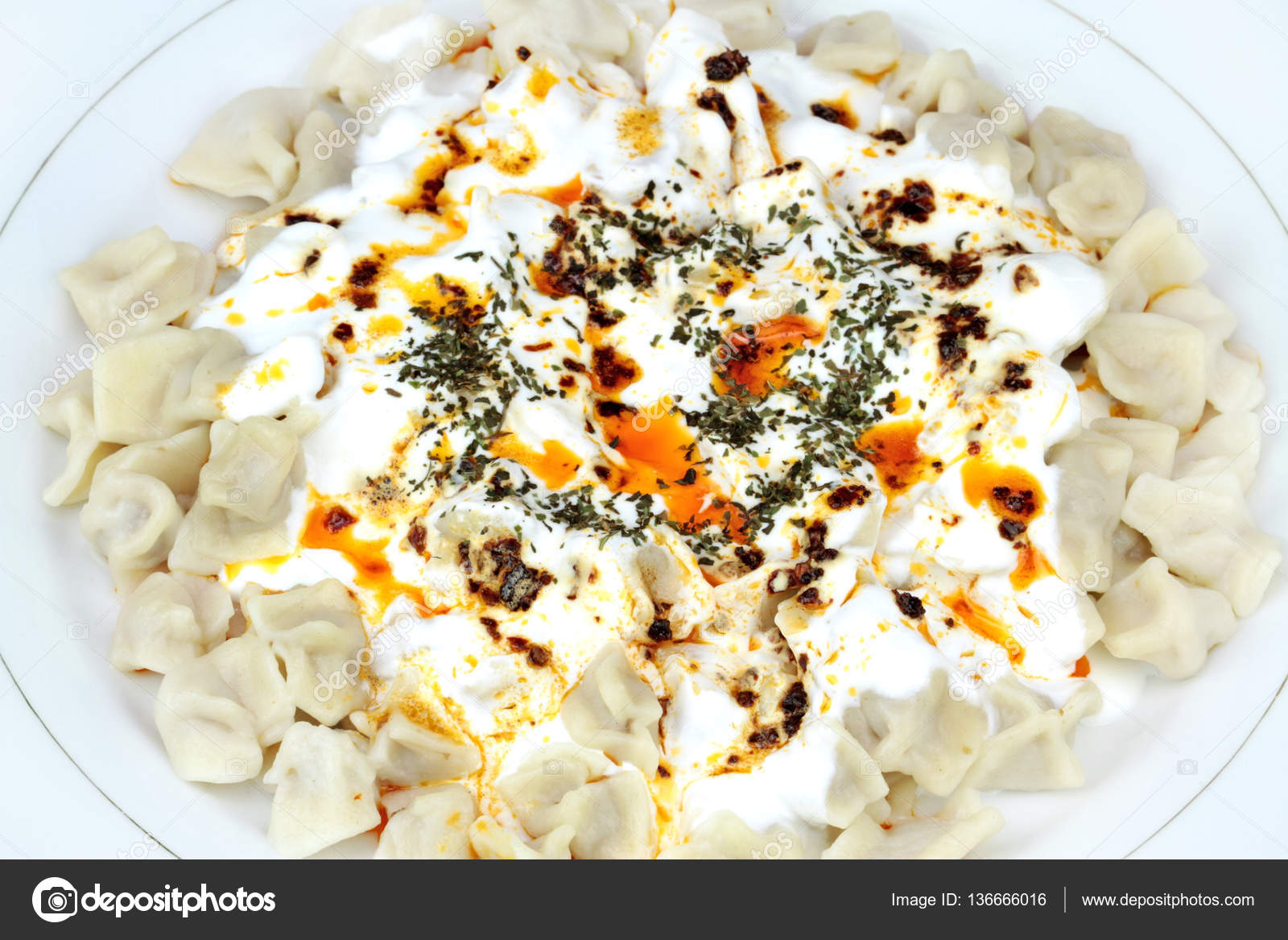 Traditional turkish cuisine manti stock photo for Authentic turkish cuisine