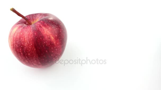 Rolling fresh apple
