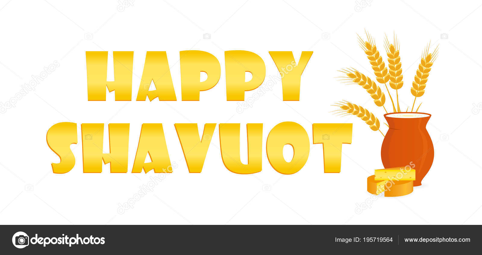 Jewish Holiday Of Shavuot Greeting Banner Stock Vector Valenzi
