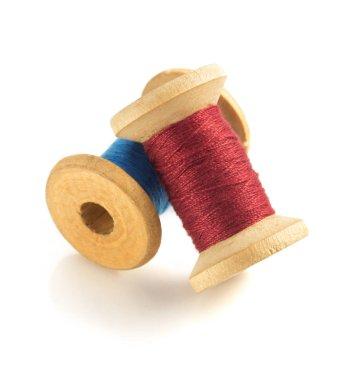 spool of thread on white