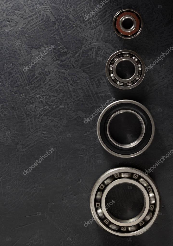Bearings tools on black table