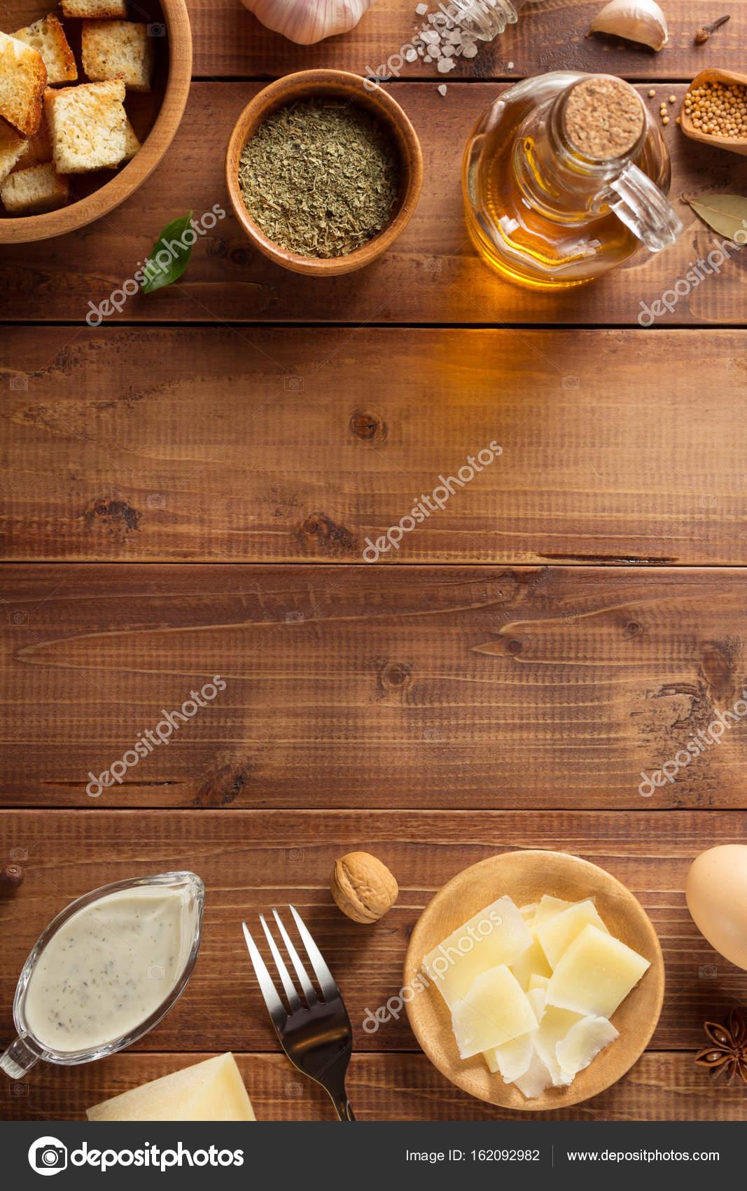 Ингредиенты для соуса цезарь