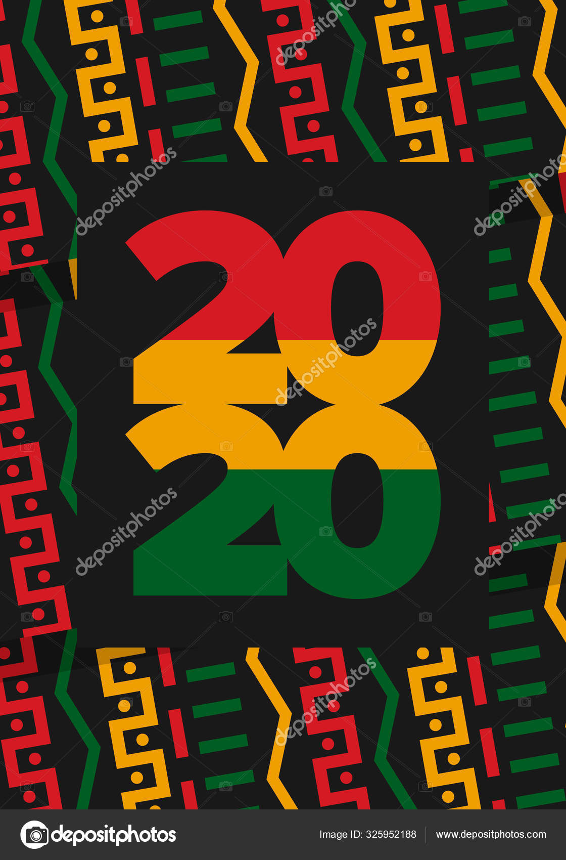 Black History Month African American History Celebrated Annual February United Stock Vector C Scoutori 325952188