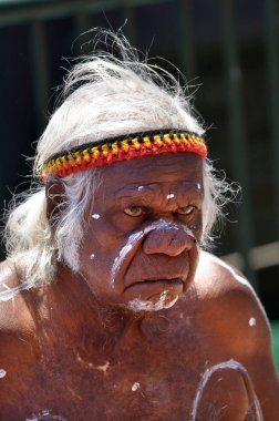 An old Aboriginal Indigenous Australian man portrait