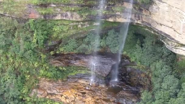 Aerial view of Katoomba Falls in the Blue Mountains Australia