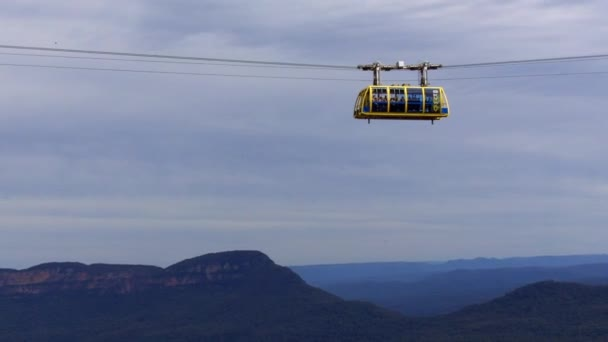 Katoomba Scenic Skyway suspended 270m above the ancient Jamison Valley. It travels across the gorge above Katoomba Falls in the blue mountains of New South Wales, Australia