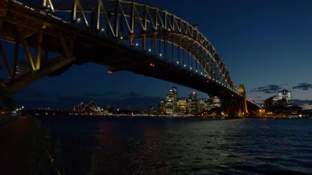 Sydney Harbour Bridge at late dusk in Sydney Australia