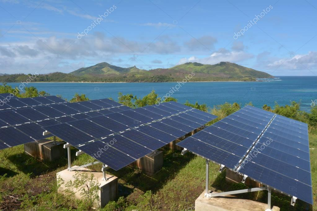 Solar PV modules on remote Island in Fiji