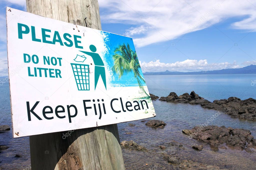 Keep Fiji Clean sign
