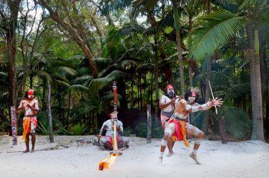 Yerli kültür göstermek Queensland Avustralya