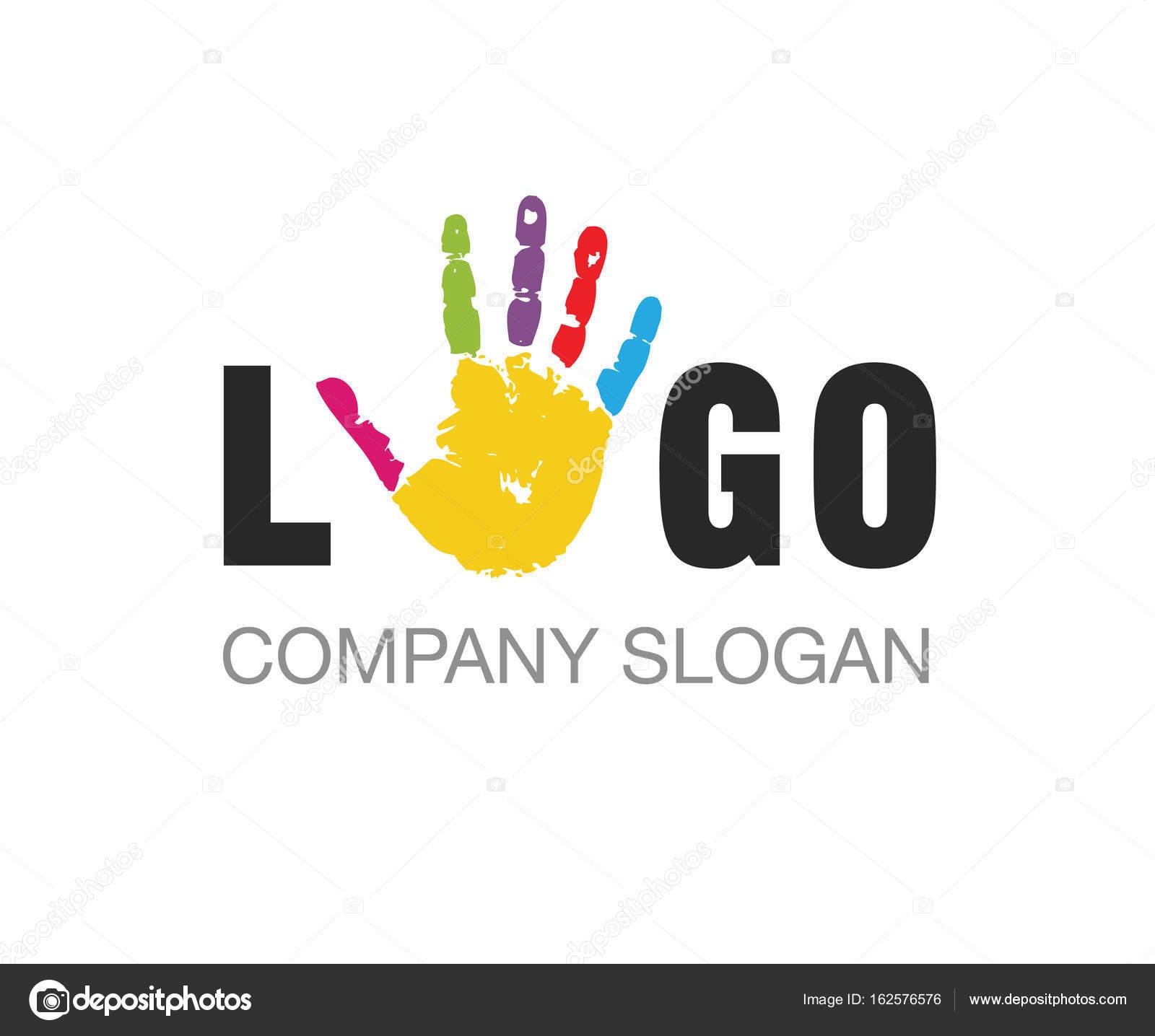 Vektör El Boya Eğitim Logo Vektör çizim Stok Vektör