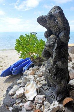 Three wise monkeys sculpture