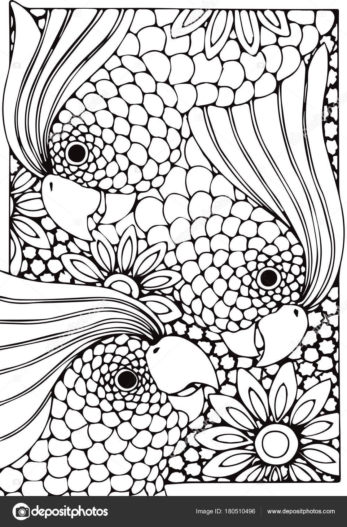 adulto, dibujo, naturaleza, relax, antiestrés, para colorear ...