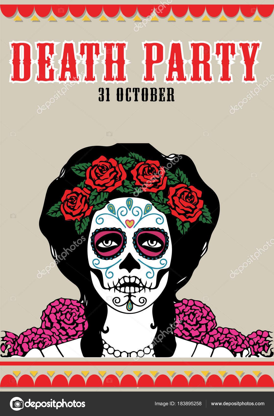 Fotos Catrina Mexicana Dibujo Cartel Del Partido De La Muerte