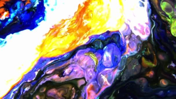 Molto bello inchiostro astratto Arty modello colore vernice liquido concetto di texture video.