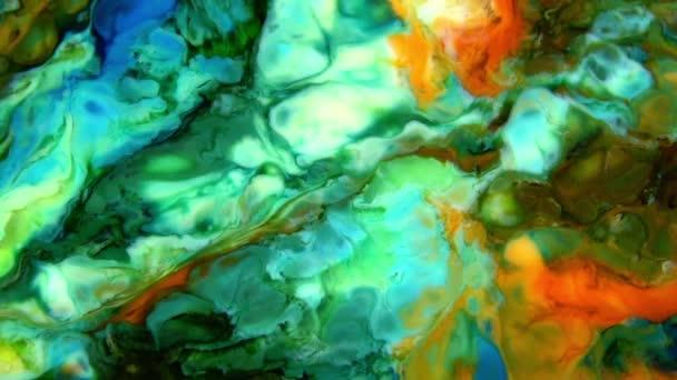 Zeitlupe Makro abstrakt Muster künstlerisches Konzept Farbe Oberfläche bewegliche Oberfläche Flüssigkeit Farbe Spritzer Kunst Design Textur