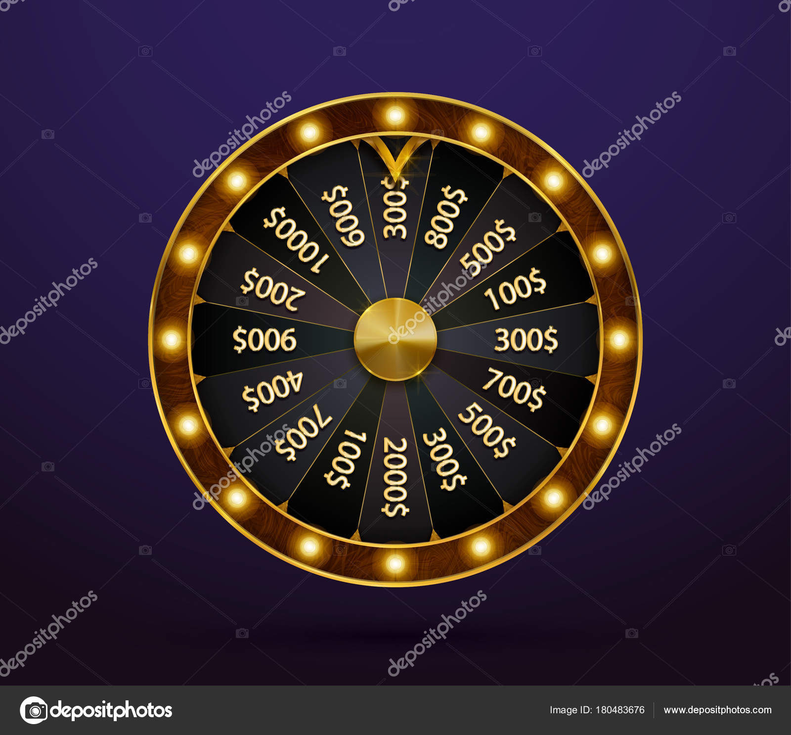 fortune wheel game spin realistic lucky spinning luxury gold roulette stock vector gluiki. Black Bedroom Furniture Sets. Home Design Ideas