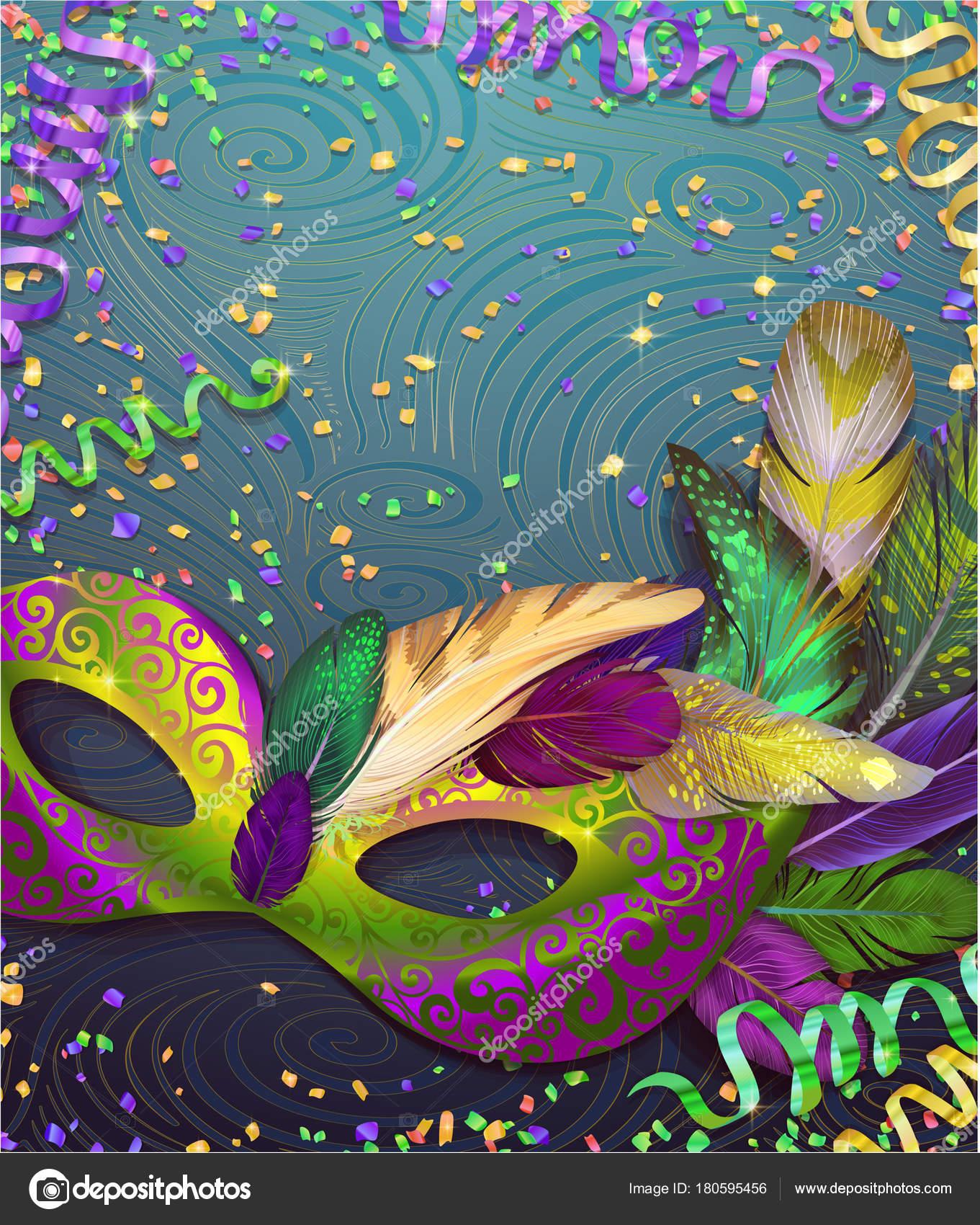 Realistische Karneval Maske Wather Fur Karneval Einladung Flyer