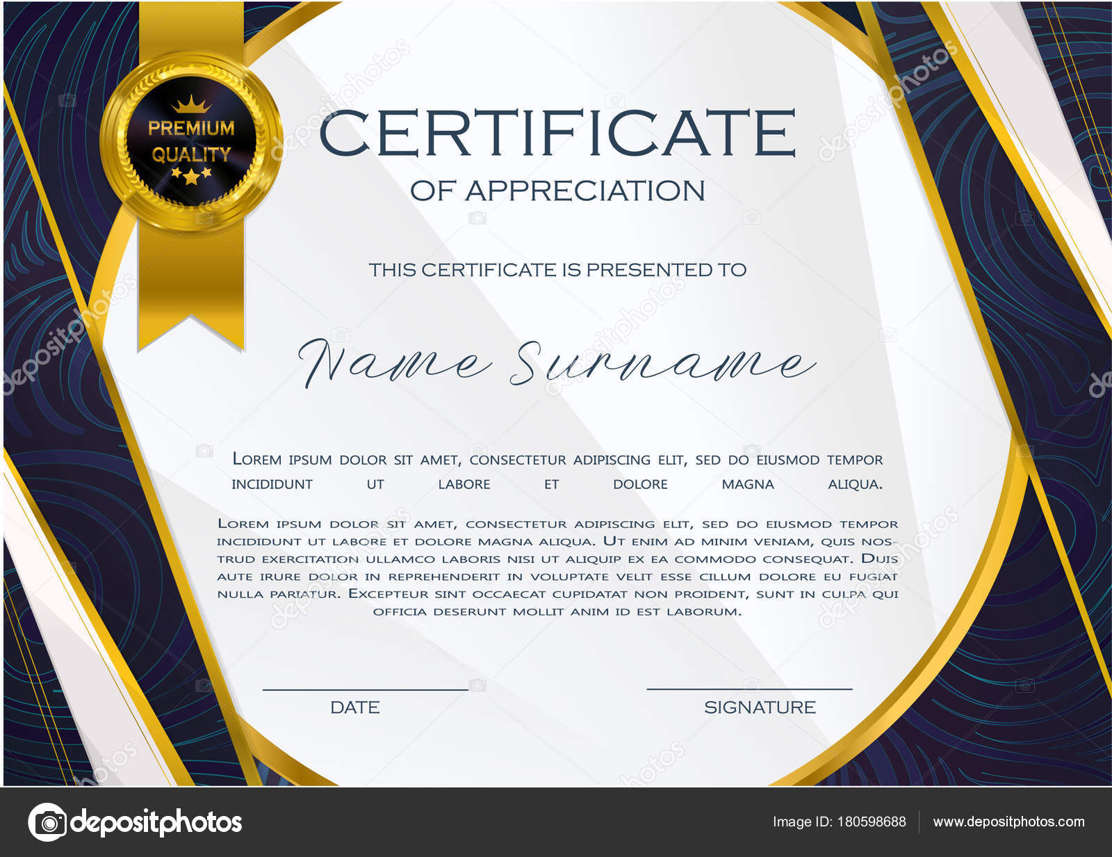 Qualification Certificate Appreciation Design Elegant