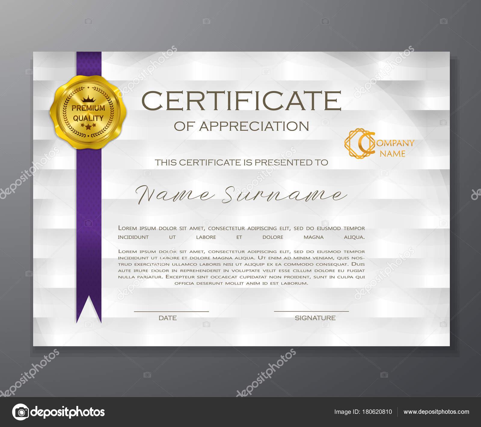Qualifikation Anerkennungszertifikat Geometrisches Design Eleganter ...