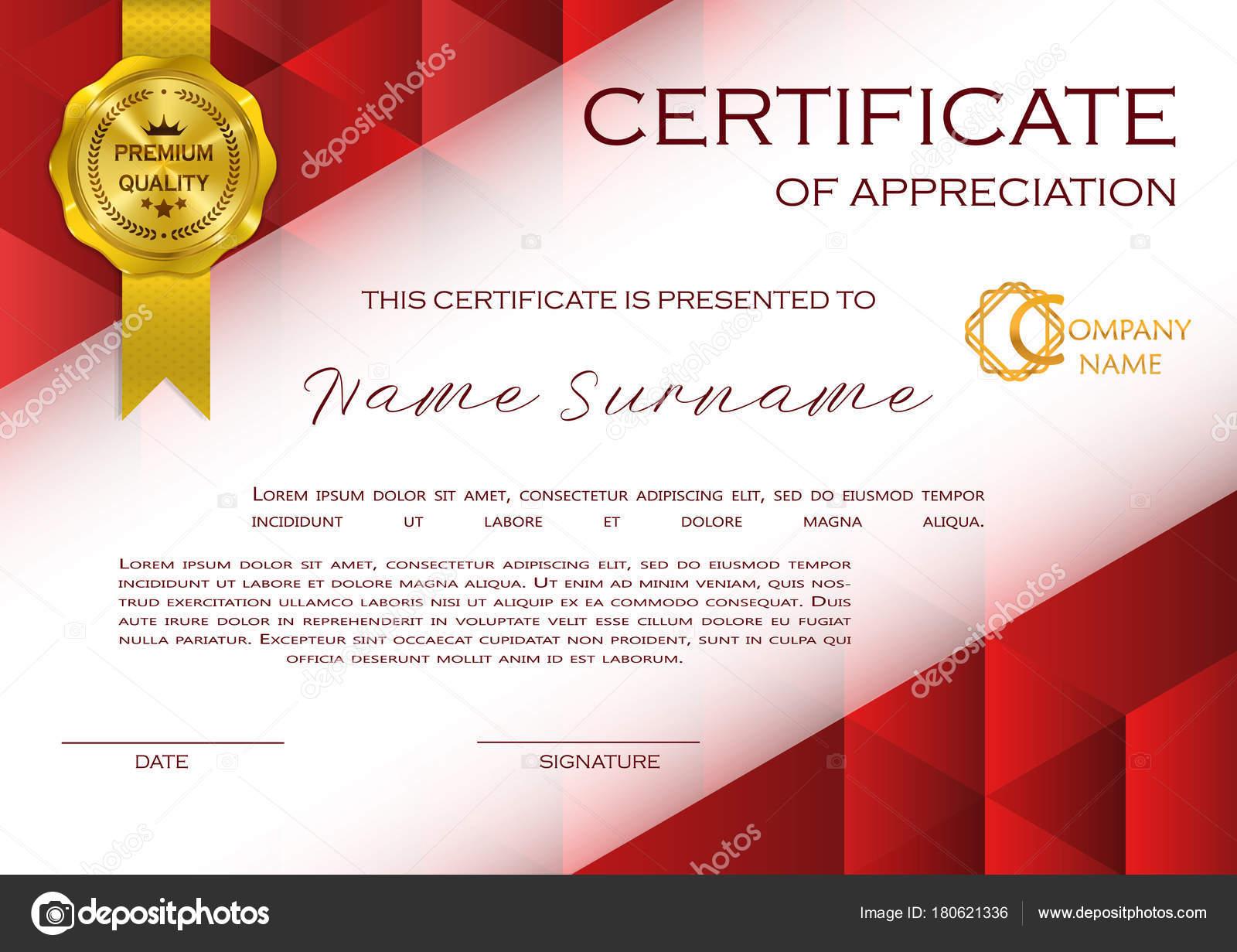 Certificado Calificación Reconocimiento Diseño Femenino Con Trama ...