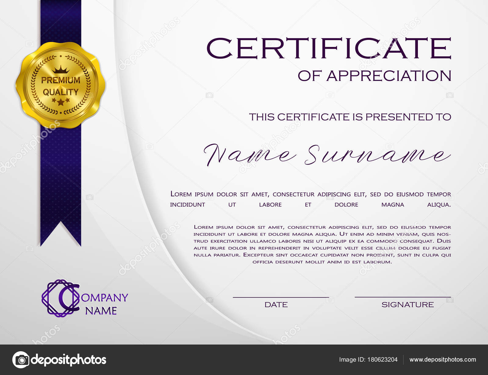 Qualification certificate appreciation design elegant luxury modern qualification certificate of appreciation design elegant luxury and modern pattern best quality award template with white and golden tapes shapes badge yadclub Images