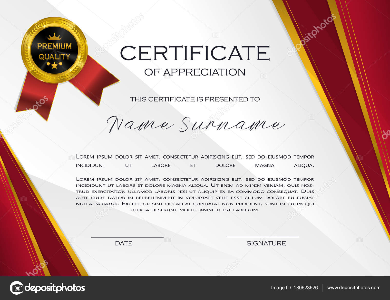 qualification certificate appreciation design elegant luxury modern pattern best quality stock vector