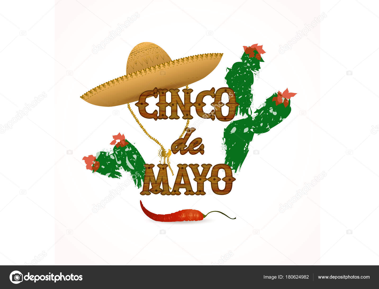 Cinco mayo poster traditional mexican colors sombrero cactus chile cinco de mayo poster traditional mexican colors sombrero cactus chile greetings background for celebration hand drawn elements wood text design kristyandbryce Gallery