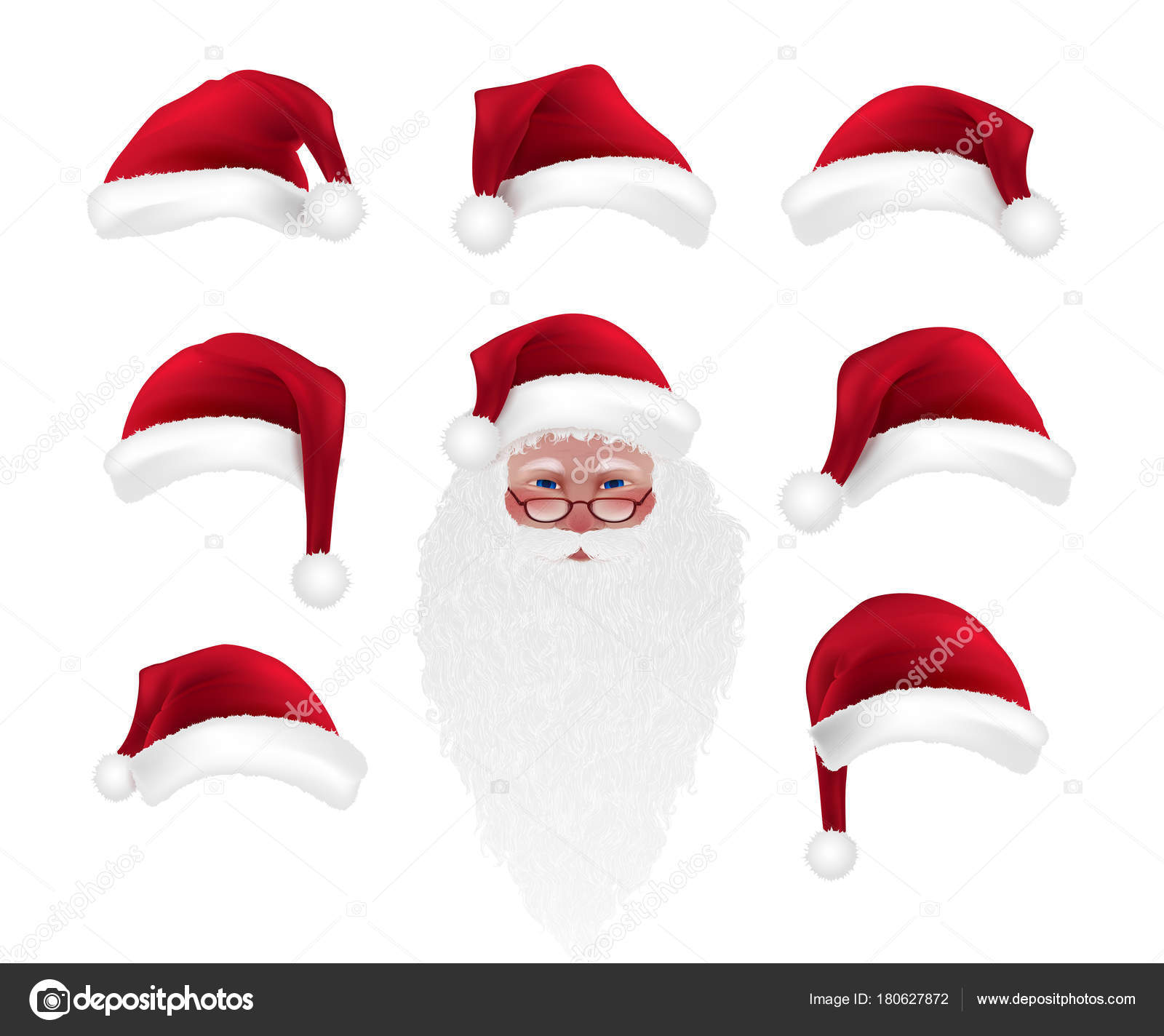 Photo Booth Weihnachten.Weihnachten Cartoon Foto Booth Requisiten Sammlung Santa Claus Hut