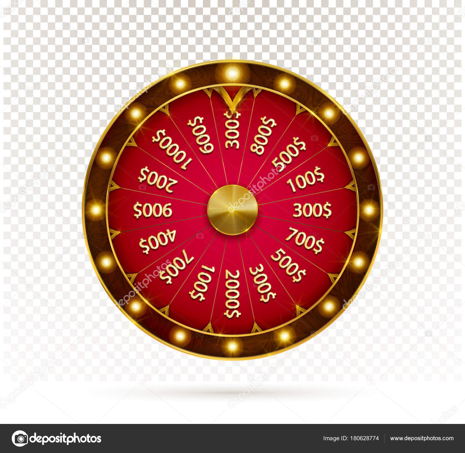 Fortune Wheel Game Spin Realistic Lucky Spinning Luxury Gold Roulette Vector Image By C Gluiki Vector Stock 180628774