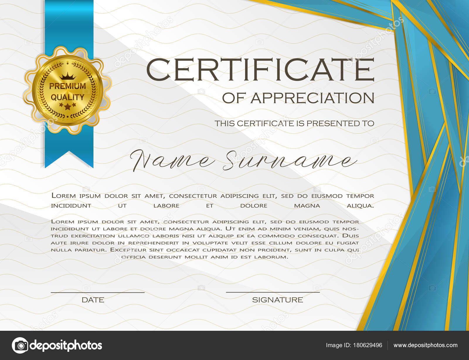 Qualification Certificate Appreciation Design Elegant Luxury Modern ...