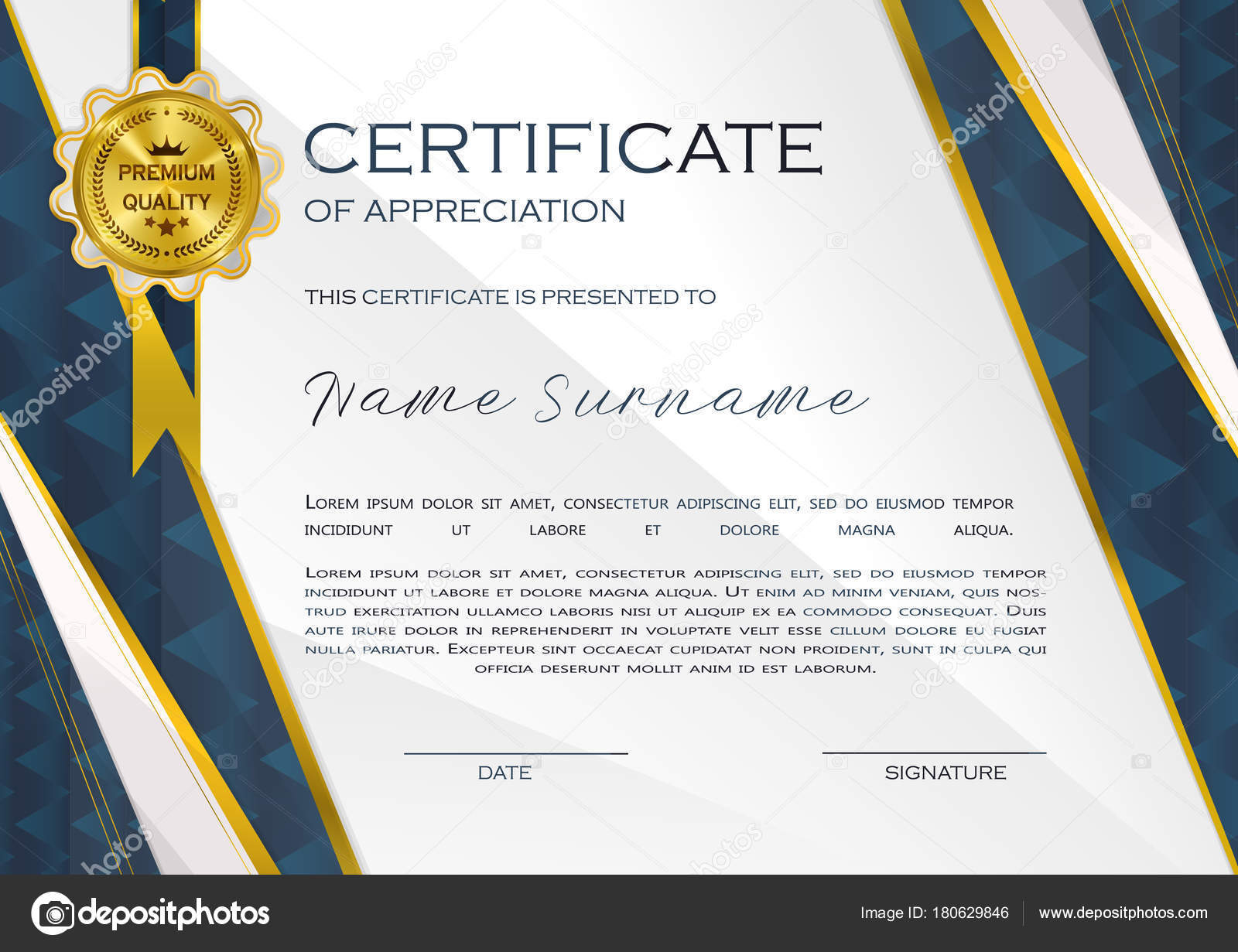 Qualification certificate appreciation design elegant luxury modern qualification certificate appreciation design elegant luxury modern pattern best quality stock vector yadclub Image collections