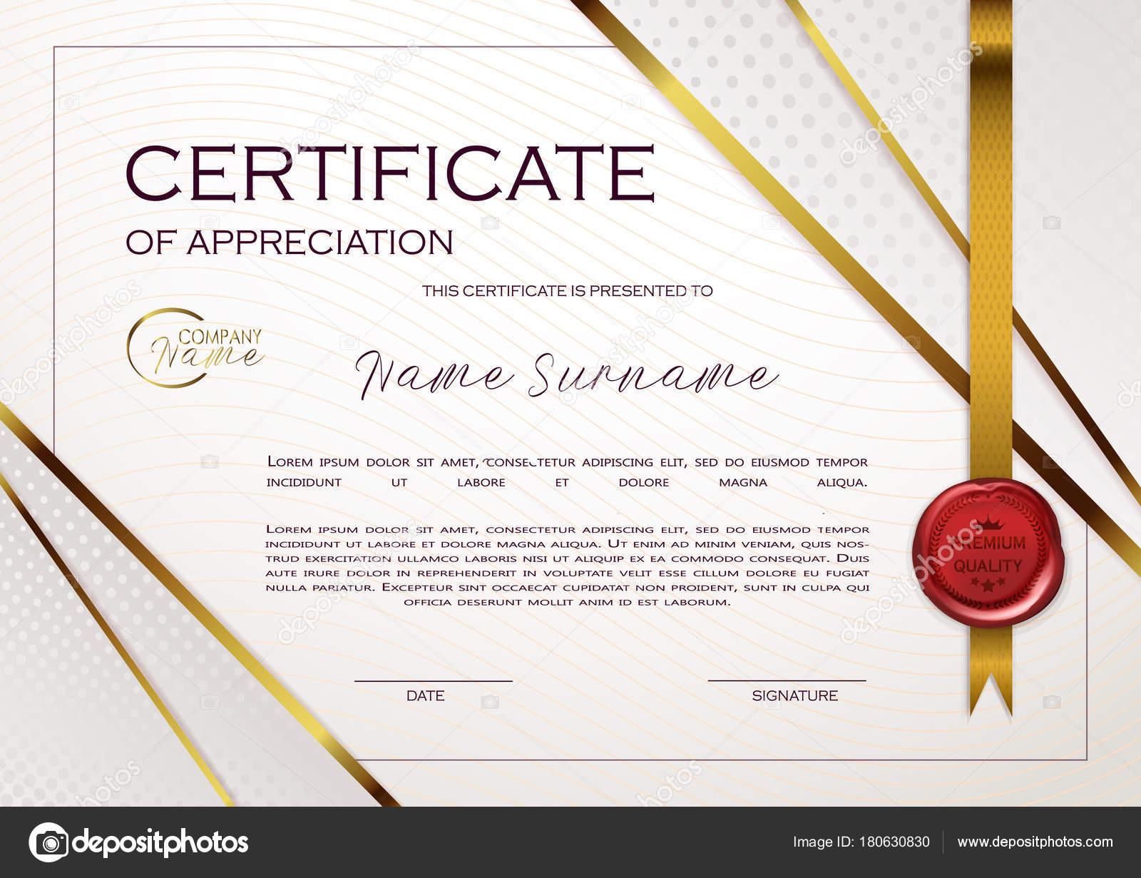 Qualification Certificate Appreciation Design Elegant Luxury Modern