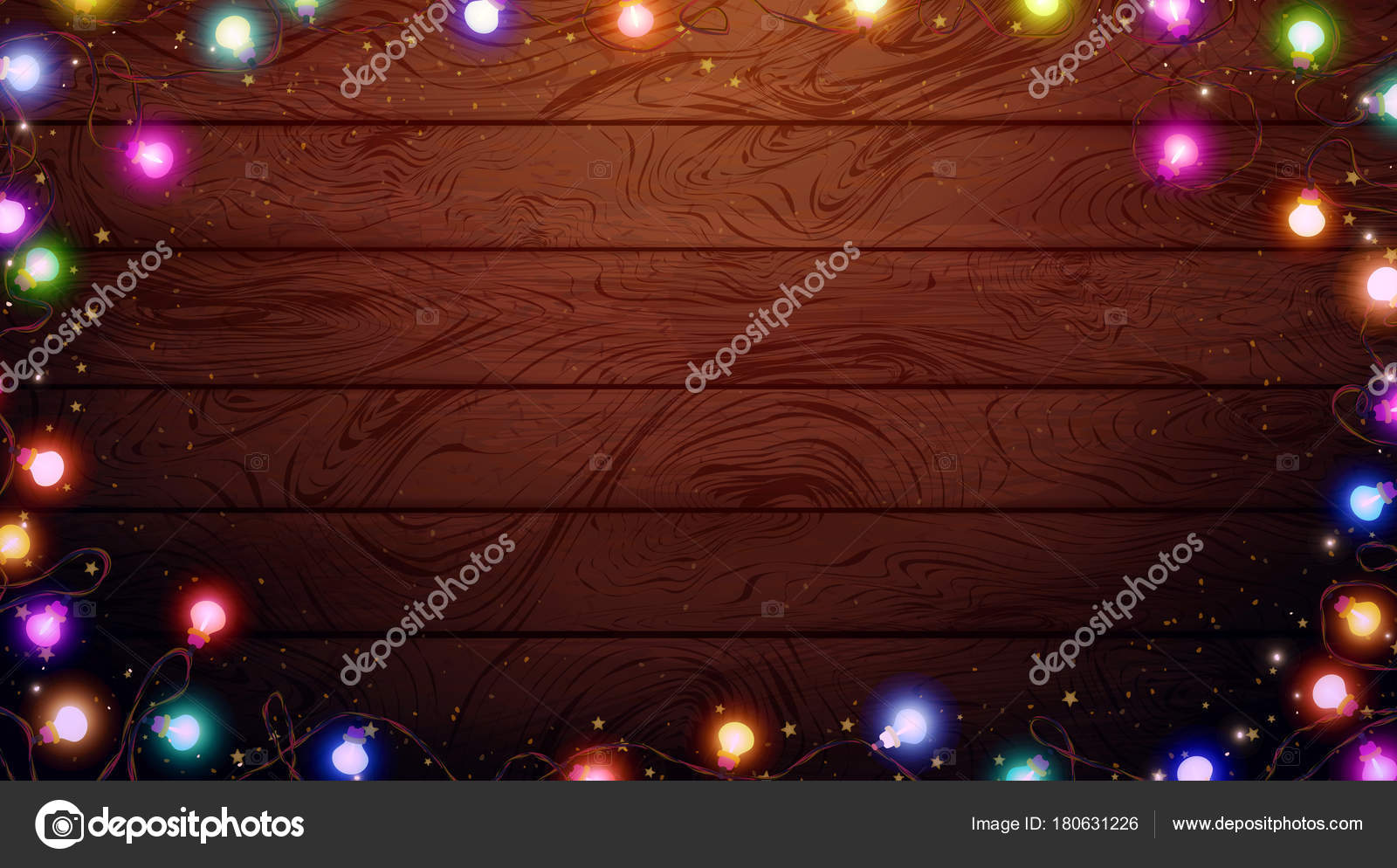 christmas lights set colored garlands new year design festive decorations stock vector - Decorating With Colored Christmas Lights