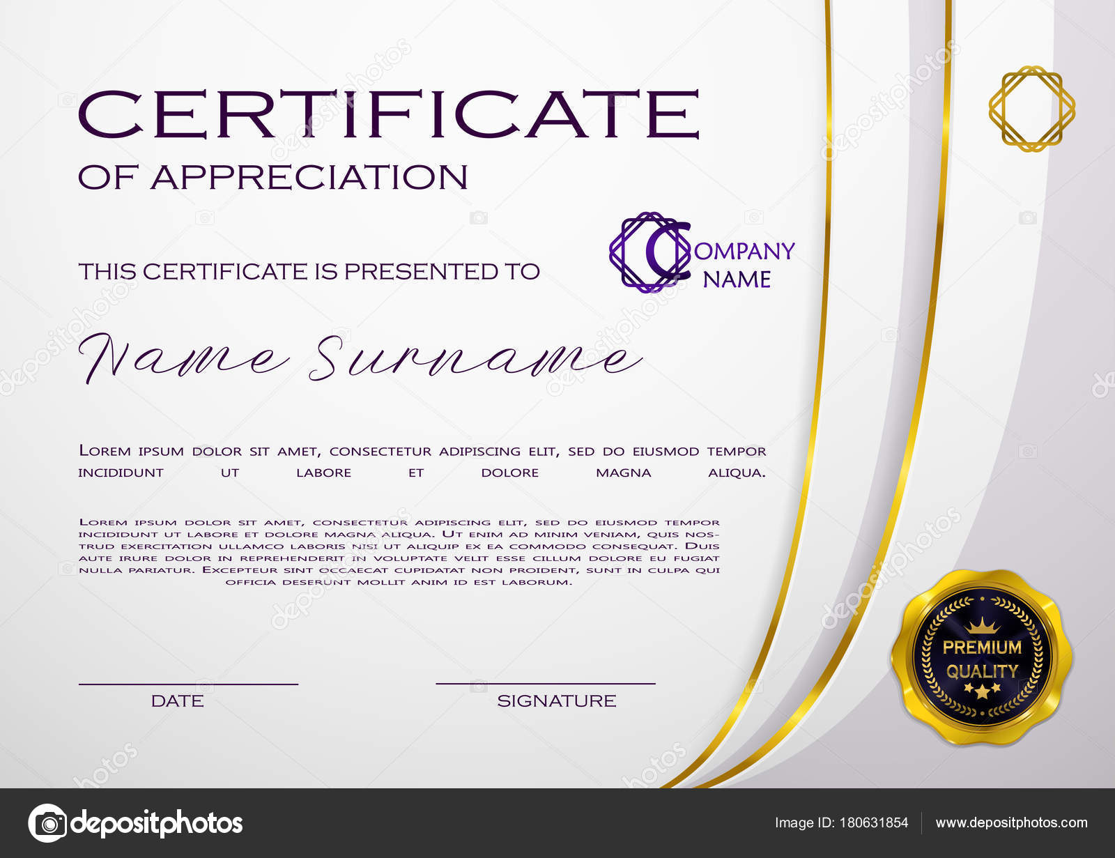 Qualification certificate appreciation design elegant luxury qualification certificate of appreciation design elegant luxury and modern pattern best quality award template with white and golden tapes shapes badge 1betcityfo Gallery
