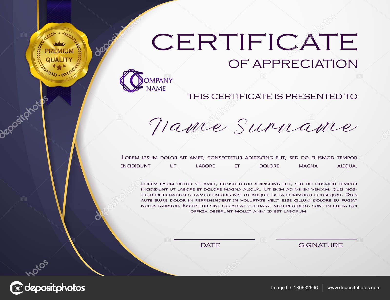 Qualification Certificate Appreciation Design Elegant Luxury Modern Pattern Best Quality