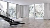 Fotografie Moderní světlé interiéry. 3D vykreslování obrázku