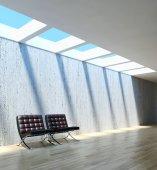 Fényképek Modern, világos belső terek. 3D rendering illusztráció