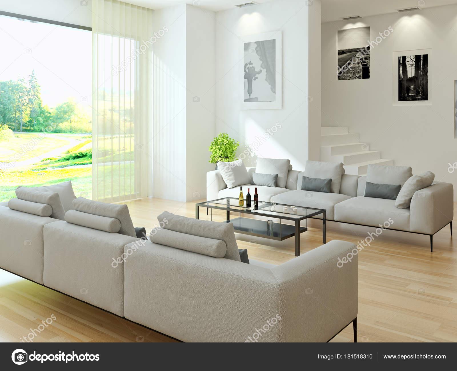 Moderne interieurs 3d rendering illustratie — Stockfoto © Prithan ...