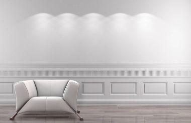 Modern bright interiors 3D rendering illustration stock vector