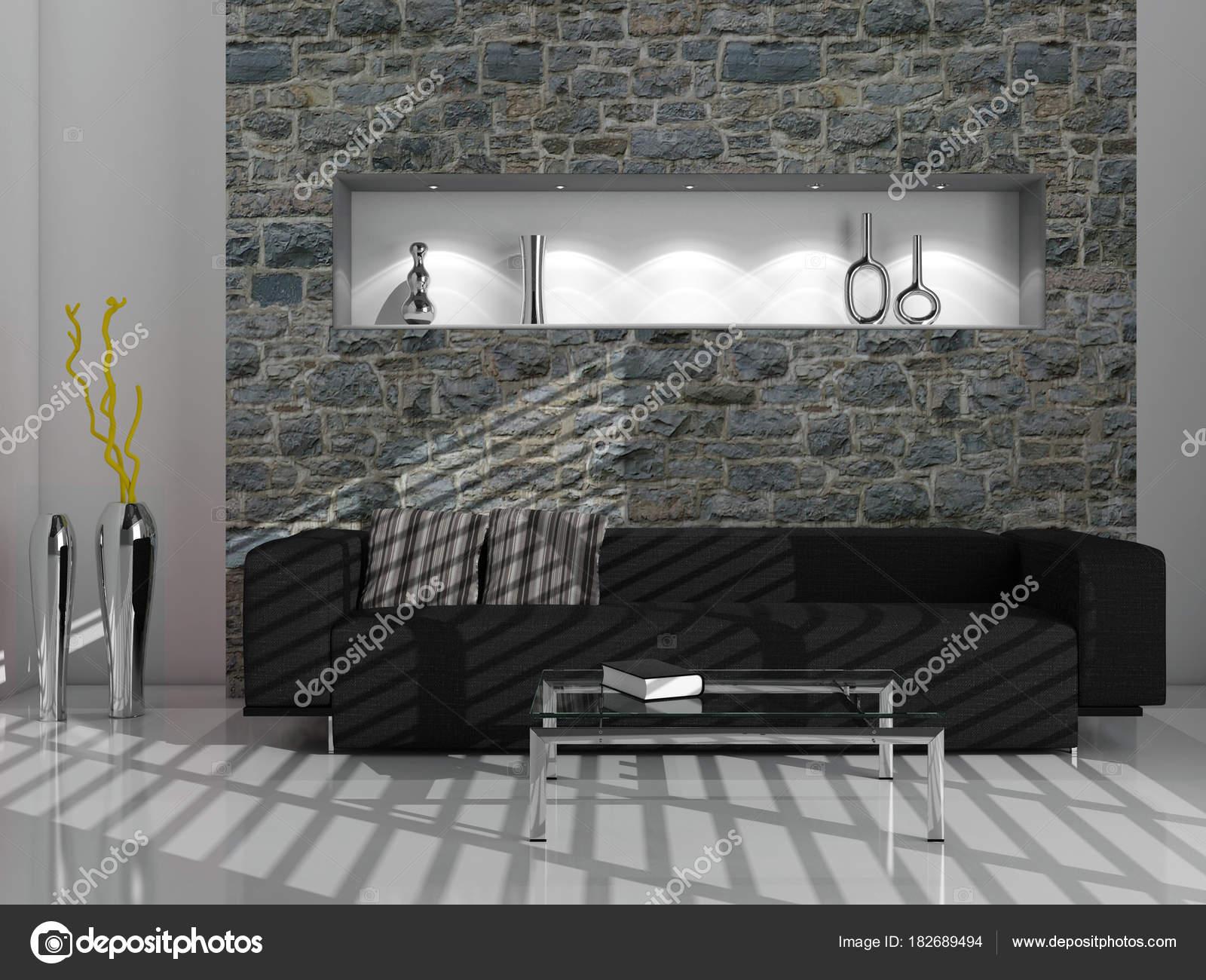 Moderne Helle Innenräume 3d Rendering Illustration U2014 Stockfoto