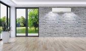Fotografie Moderní světlé interiéry 3d vykreslování obrázku
