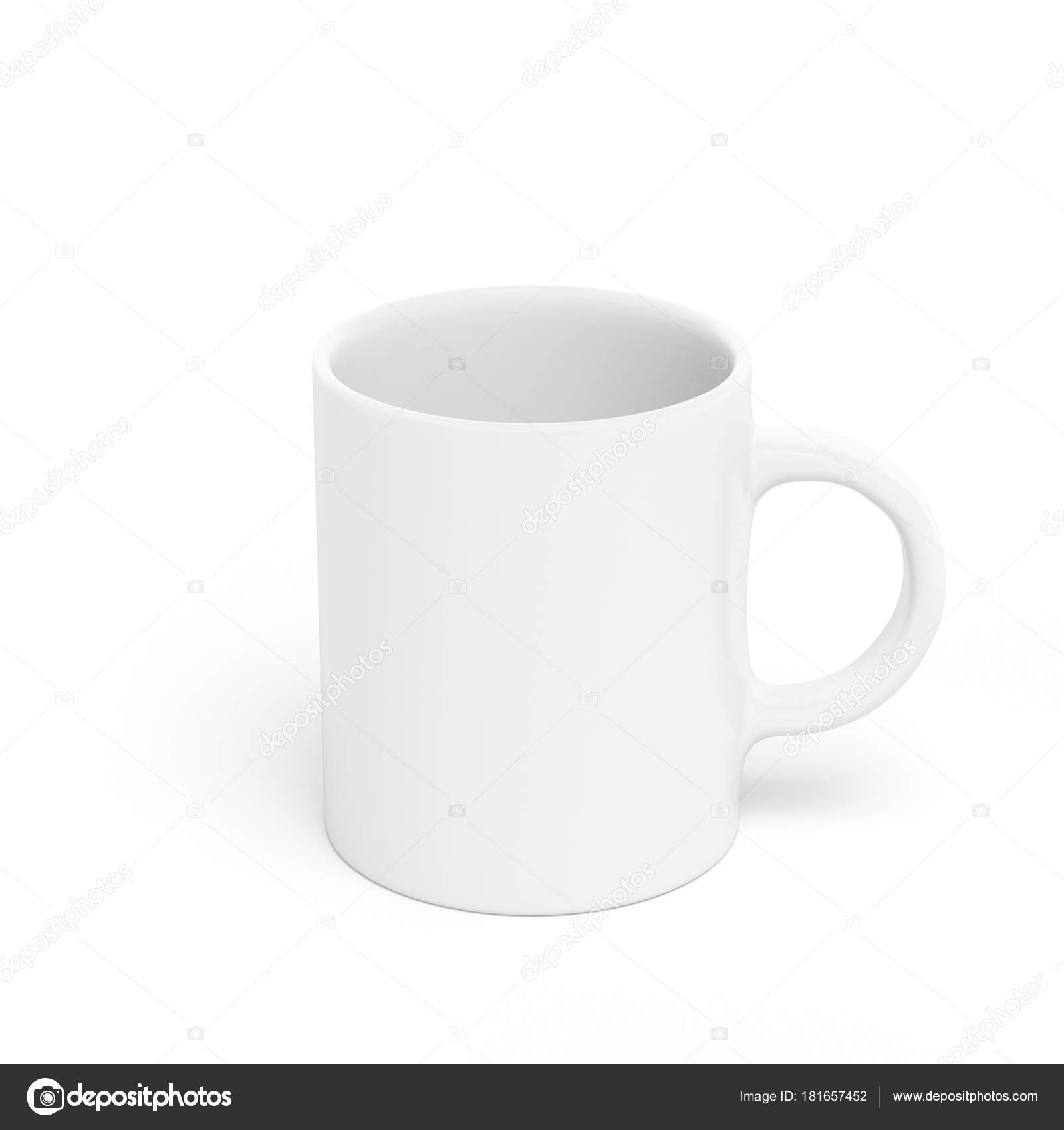 4232f65285a Blank white mug mockup, 3D rendering — Stock Photo © TissaNsk #181657452