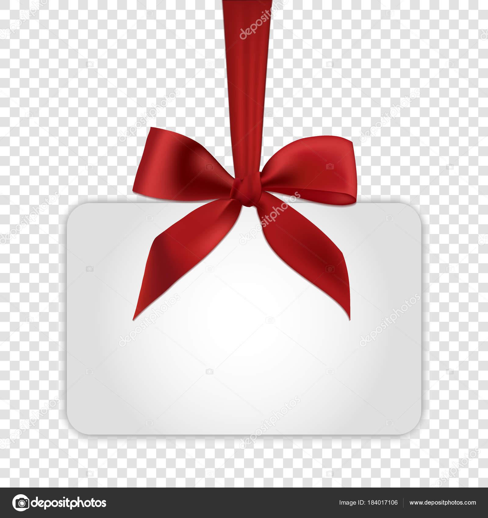 mod le de carte cadeau blanc blanc avec noeud rouge. Black Bedroom Furniture Sets. Home Design Ideas