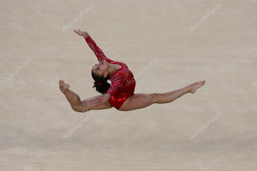 floor gymnastics olympics. Olympic Champion Laurie Hernandez Of United States During An Artistic Gymnastics Floor Exercise Training Session For Olympics N