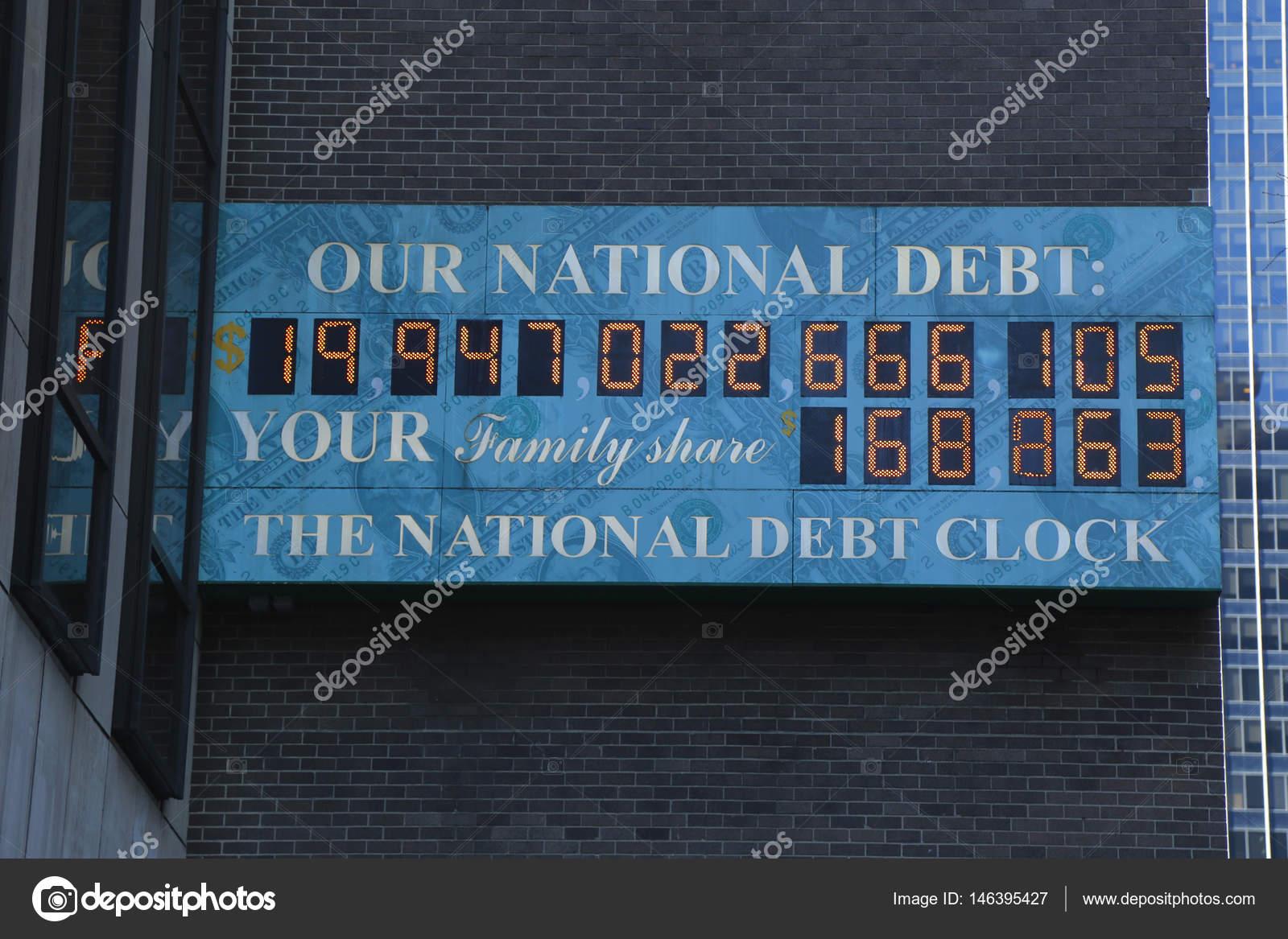 Nacional Del La Manhattan De Vista Reloj Midtown Foto Deuda En — 8OPwkn0
